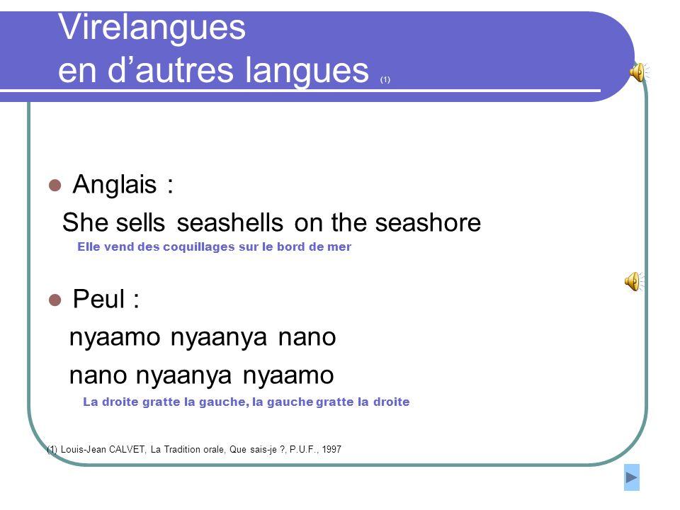Virelangues en d'autres langues (1)