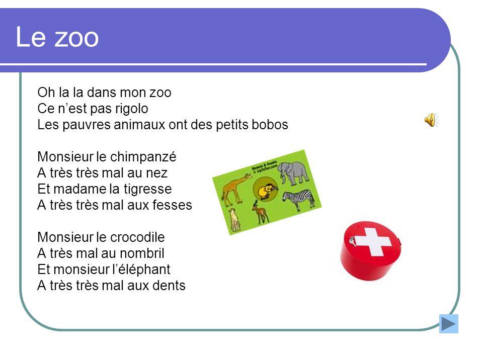 Le zoo Oh la la dans mon zoo Ce n'est pas rigolo