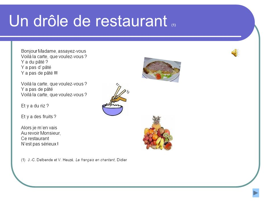 Un drôle de restaurant (1)