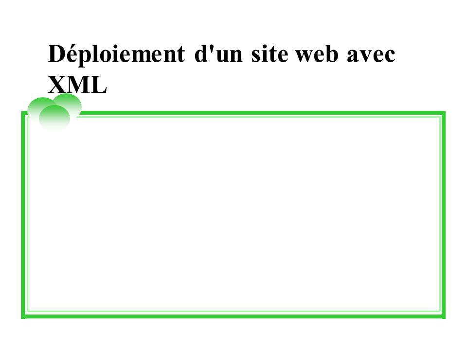Déploiement d un site web avec XML