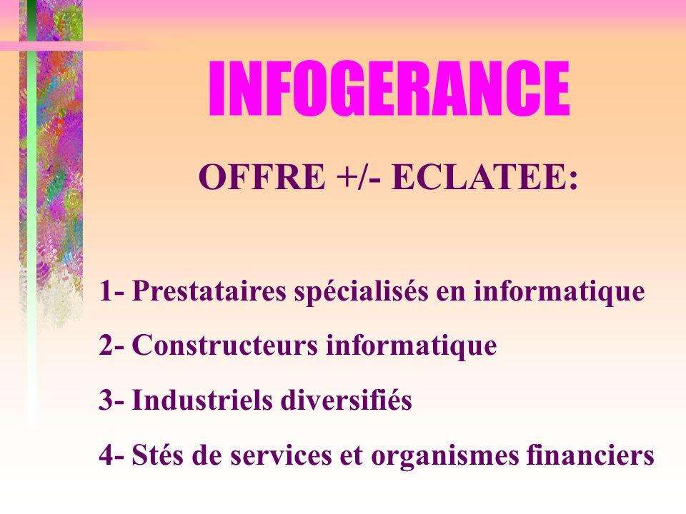 INFOGERANCE OFFRE +/- ECLATEE: