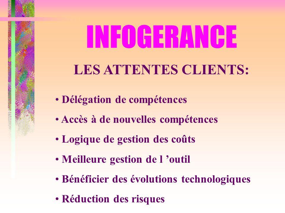INFOGERANCE LES ATTENTES CLIENTS: Délégation de compétences