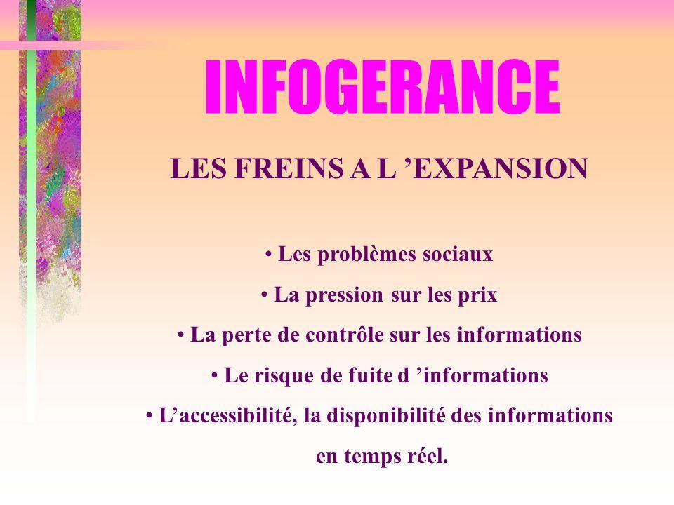 INFOGERANCE LES FREINS A L 'EXPANSION Les problèmes sociaux