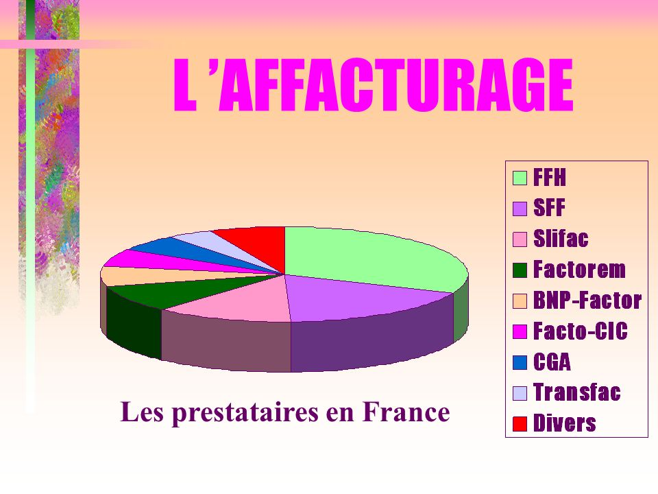 Les prestataires en France