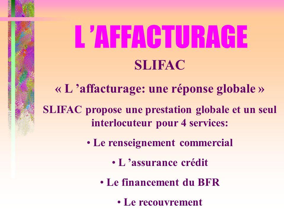 « L 'affacturage: une réponse globale » Le renseignement commercial