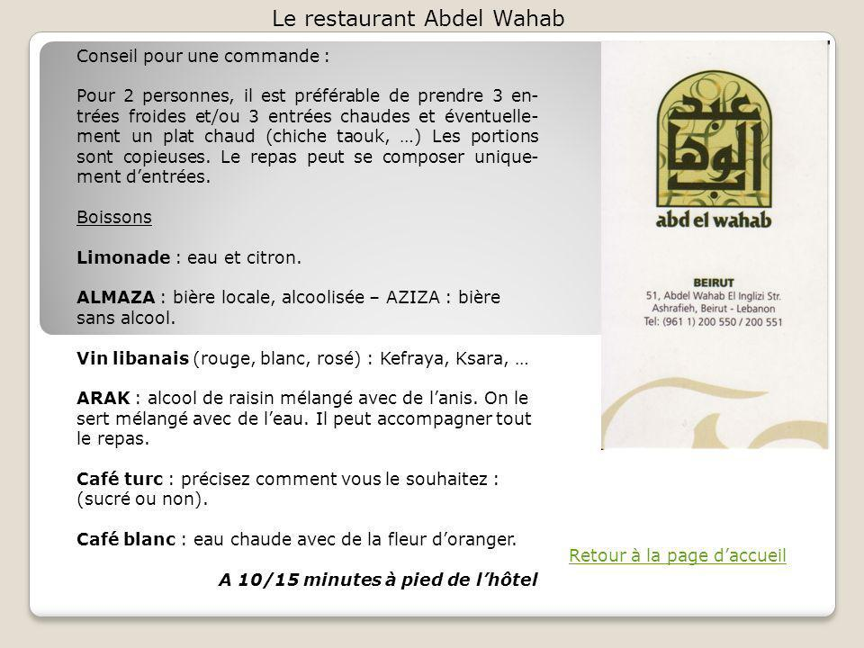 Le restaurant Abdel Wahab