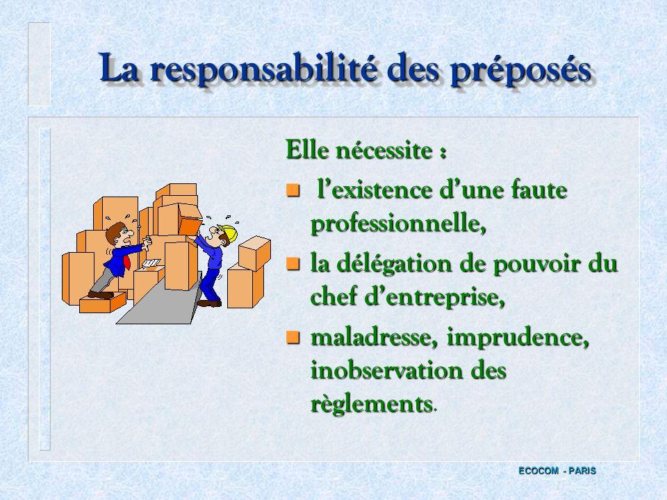 La responsabilité des préposés