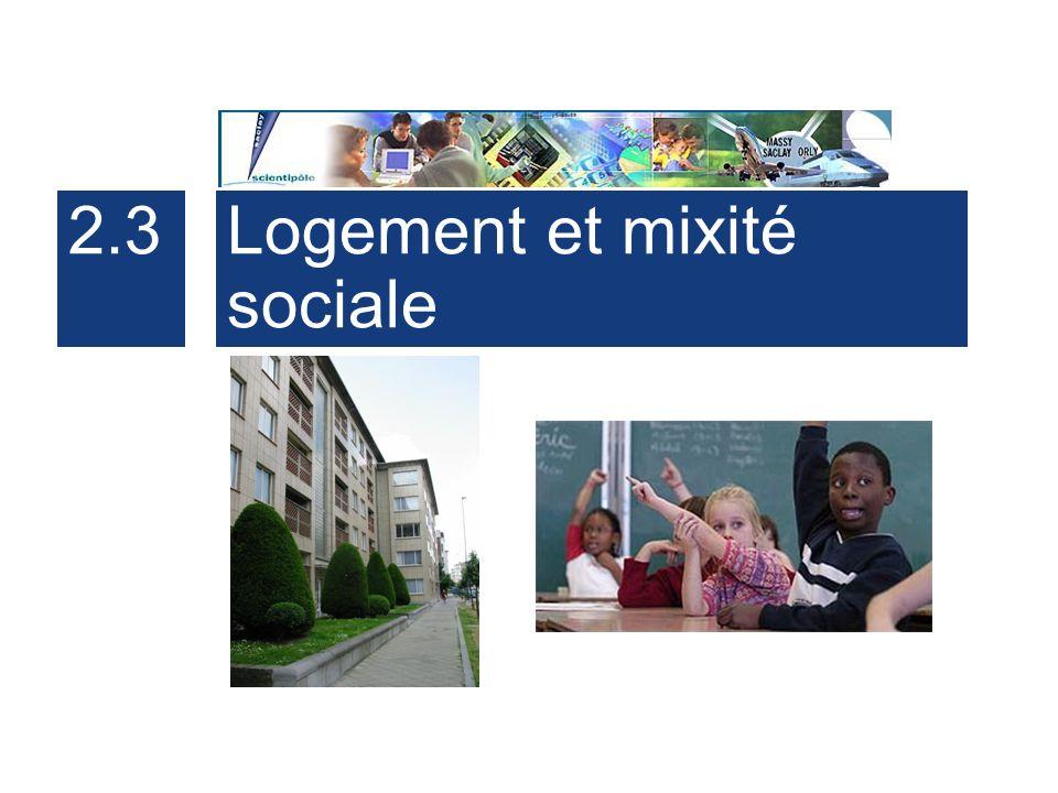 2.3 Logement et mixité sociale
