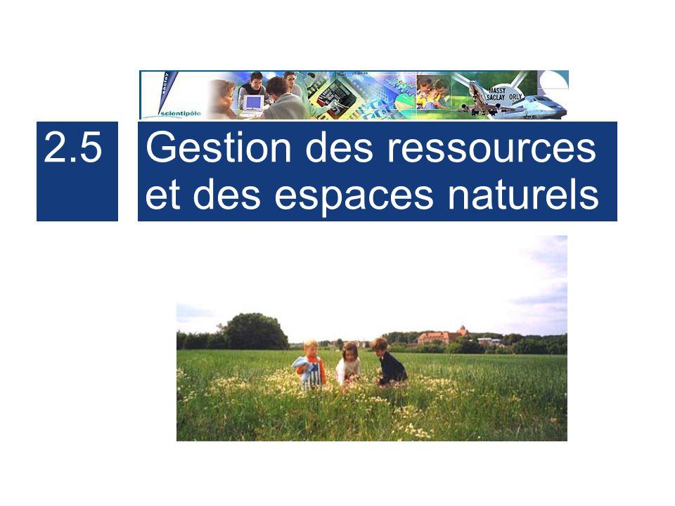 2.5 Gestion des ressources et des espaces naturels