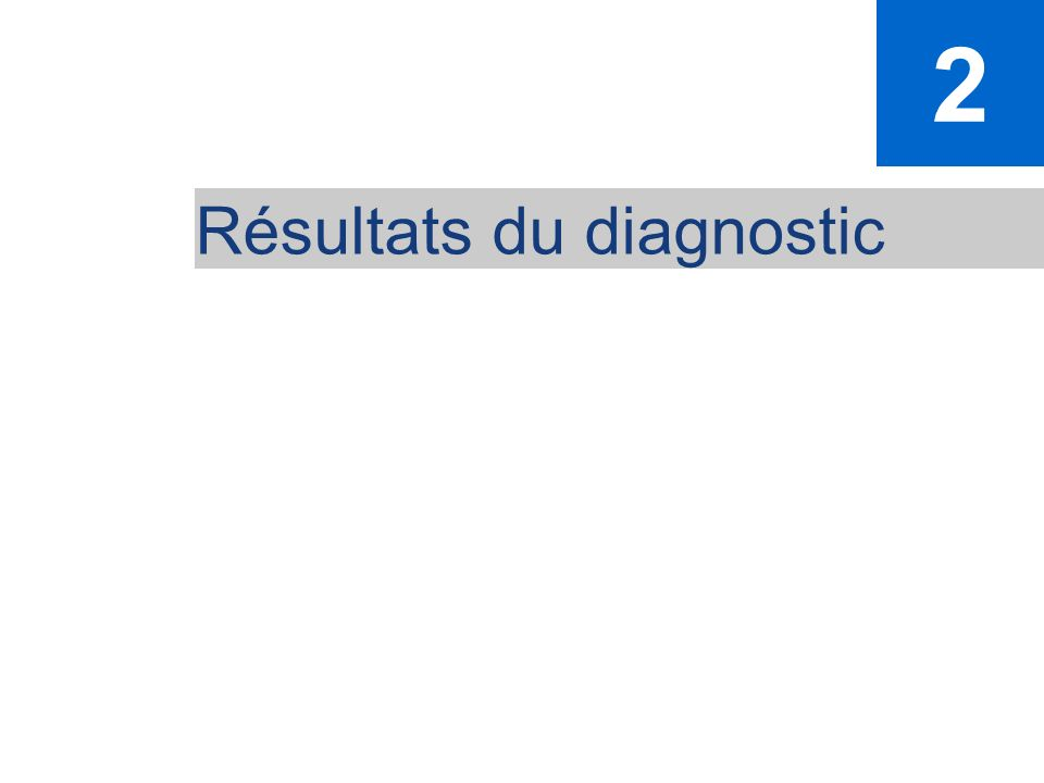 2 Résultats du diagnostic