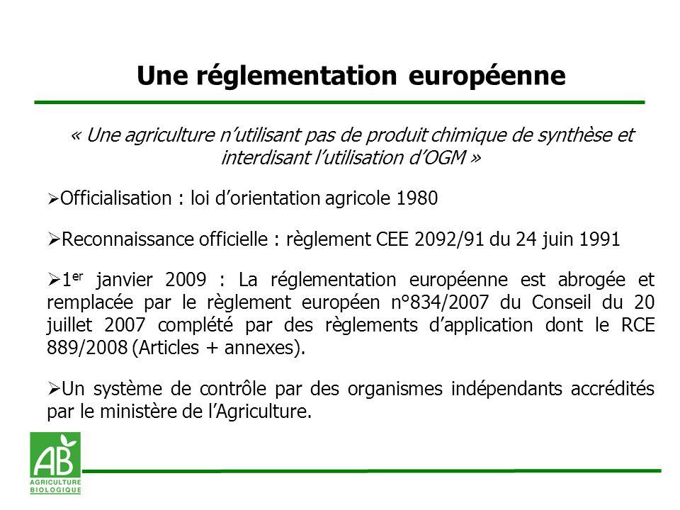 Une réglementation européenne