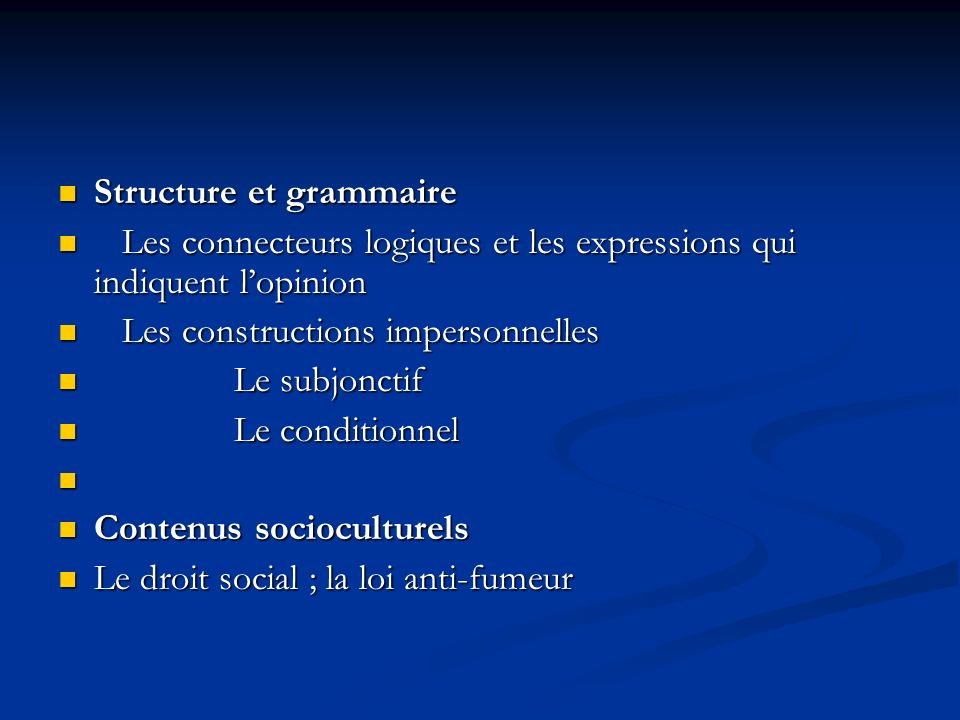 Structure et grammaire