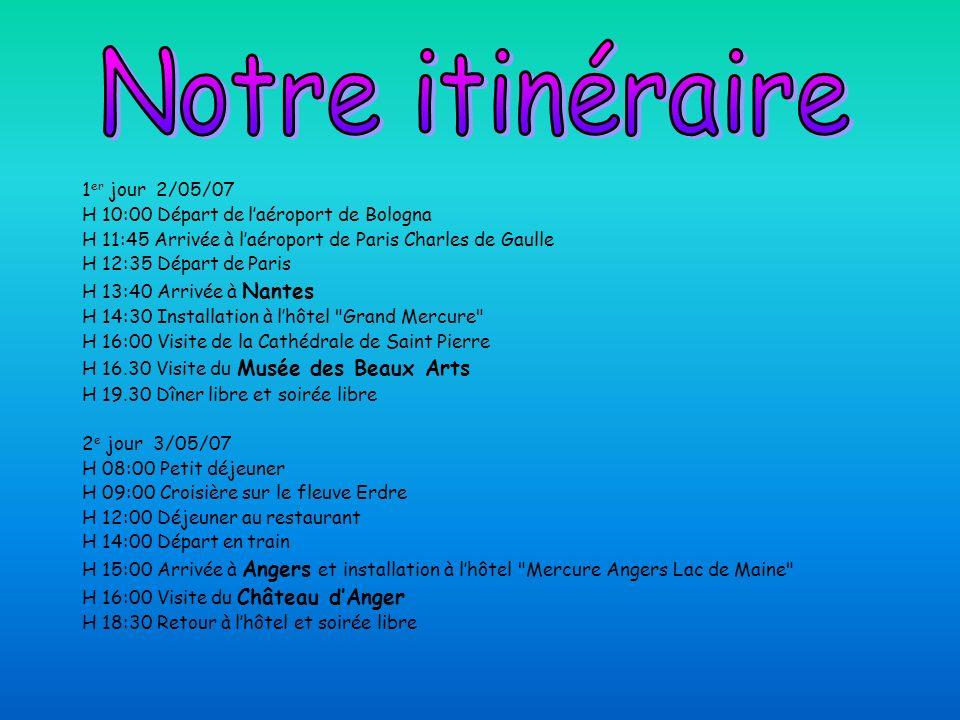 Notre itinéraire 1er jour 2/05/07
