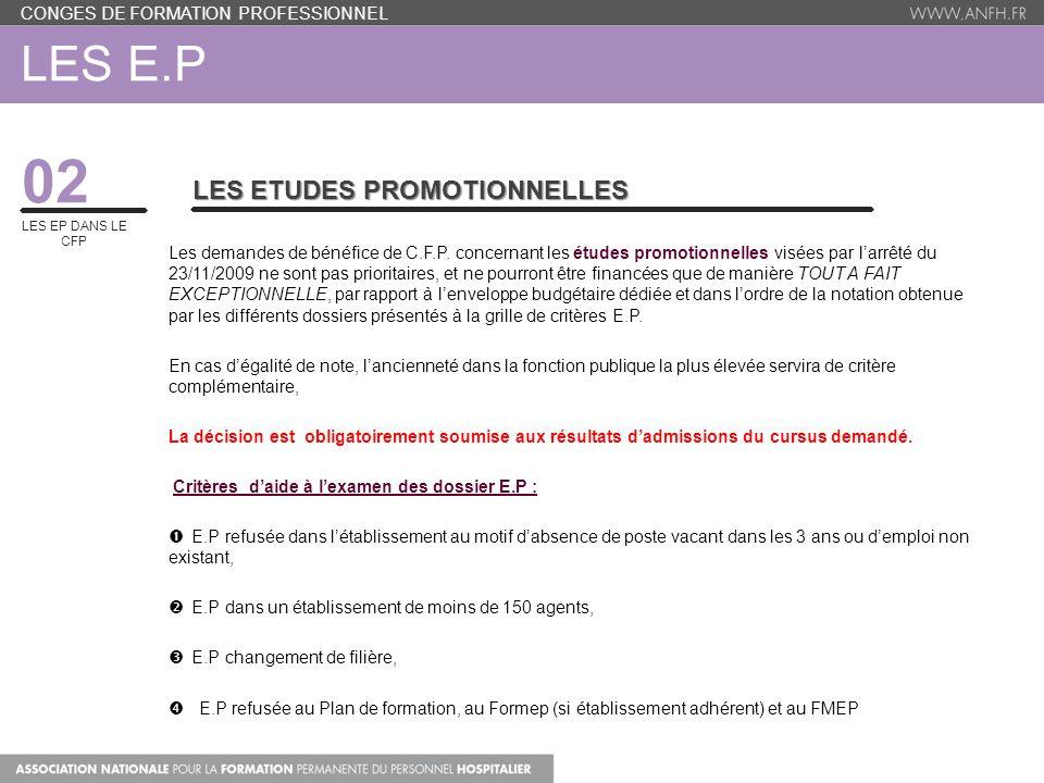 02 Les e.P Les Etudes promotionnelles
