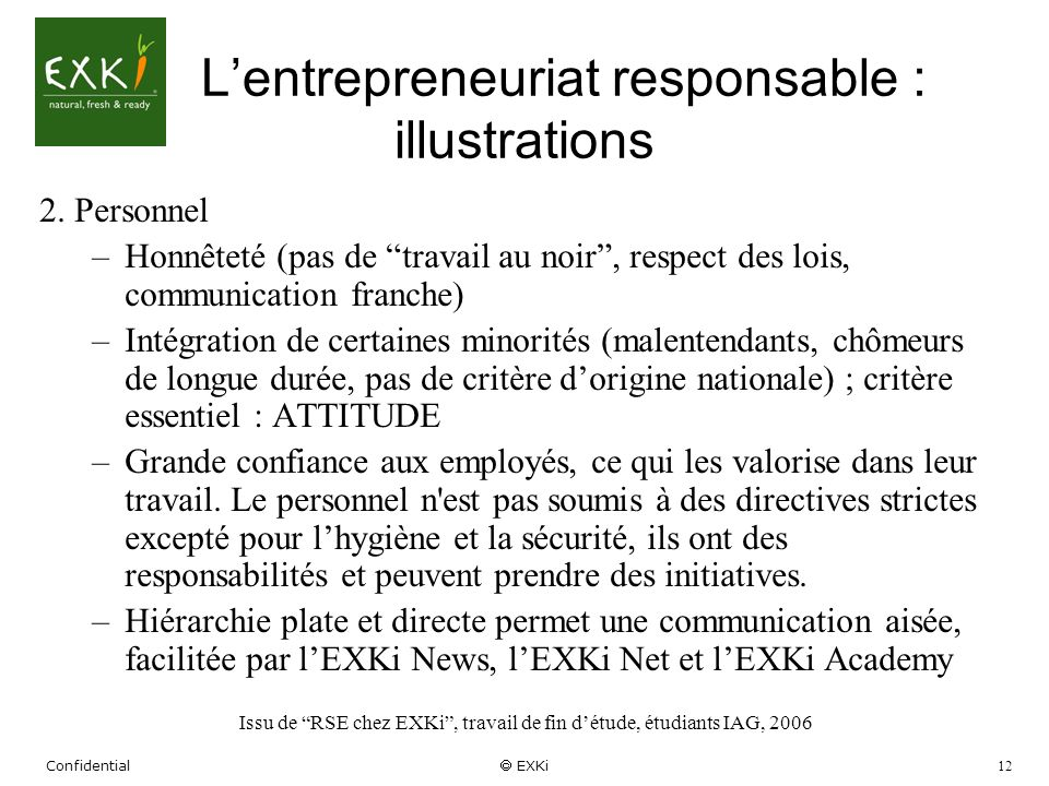 L'entrepreneuriat responsable : illustrations