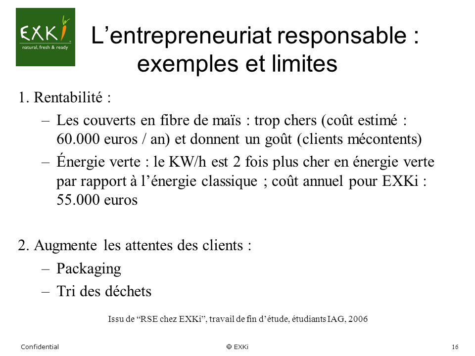 L'entrepreneuriat responsable : exemples et limites