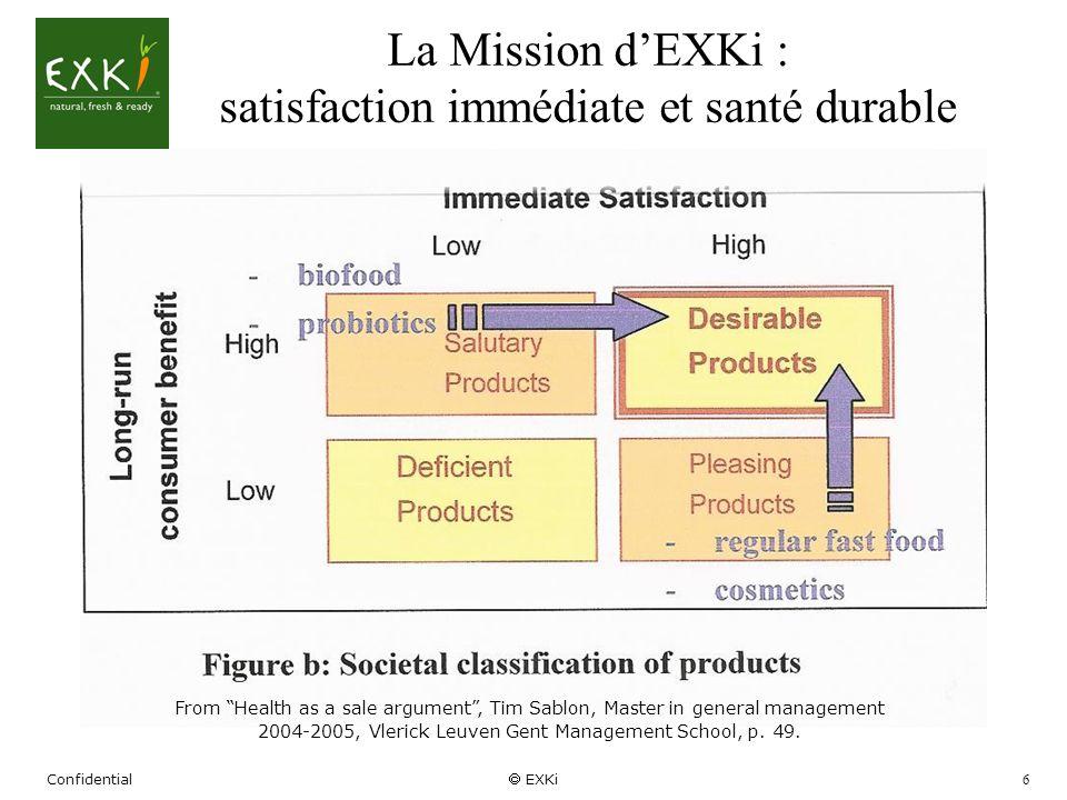 La Mission d'EXKi : satisfaction immédiate et santé durable