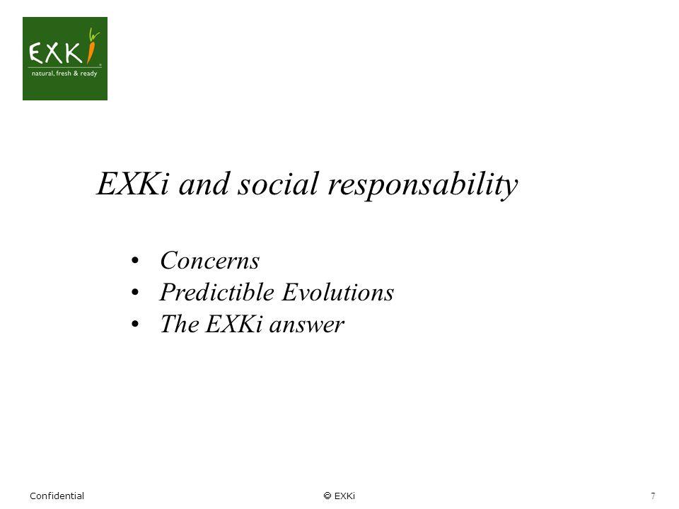EXKi and social responsability