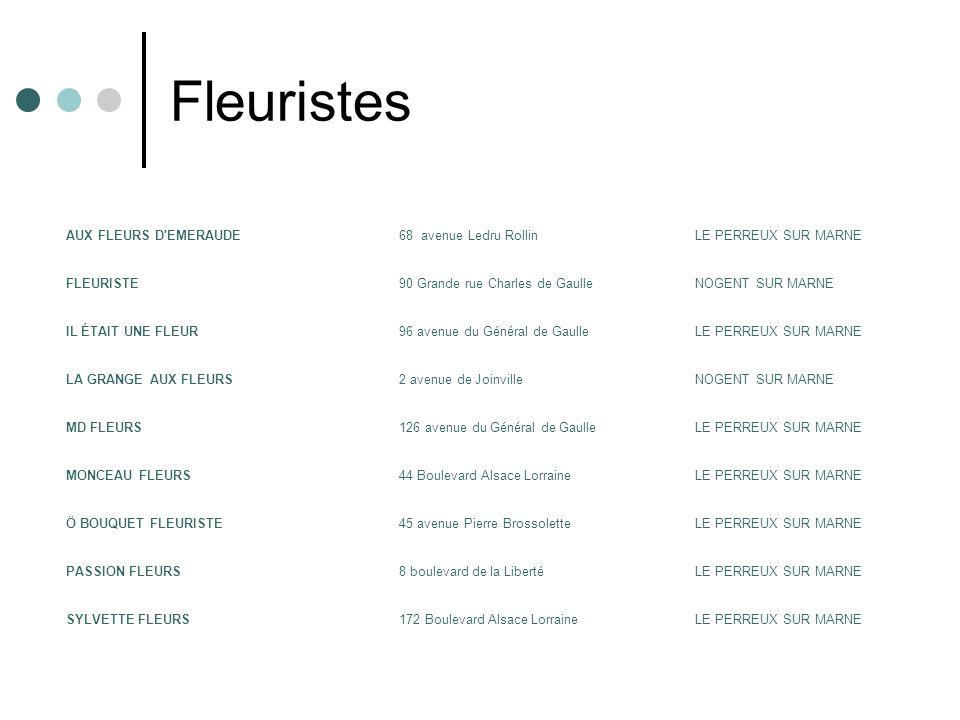 Fleuristes AUX FLEURS D EMERAUDE 68 avenue Ledru Rollin