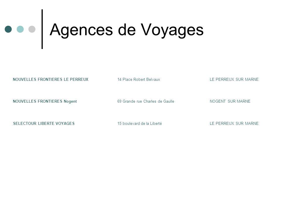 Agences de Voyages NOUVELLES FRONTIERES LE PERREUX