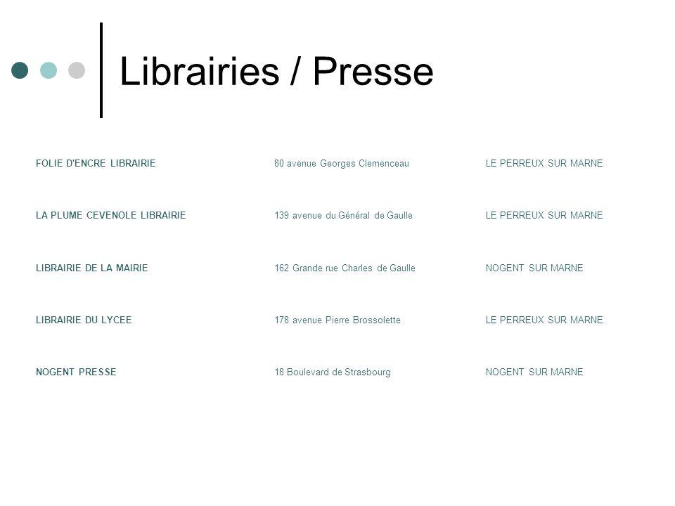Librairies / Presse FOLIE D ENCRE LIBRAIRIE