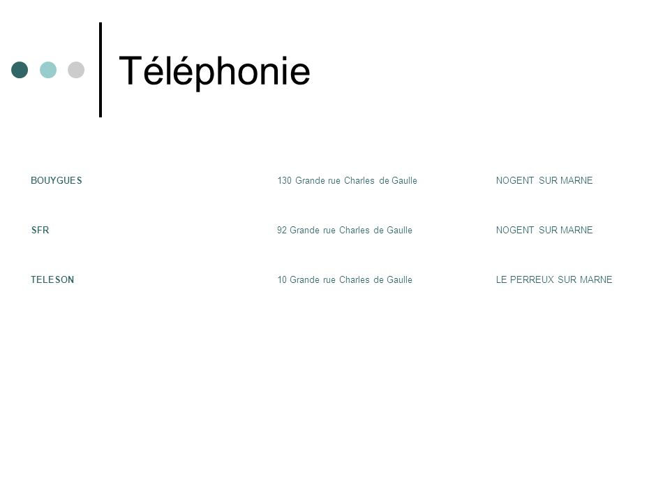 Téléphonie BOUYGUES 130 Grande rue Charles de Gaulle NOGENT SUR MARNE