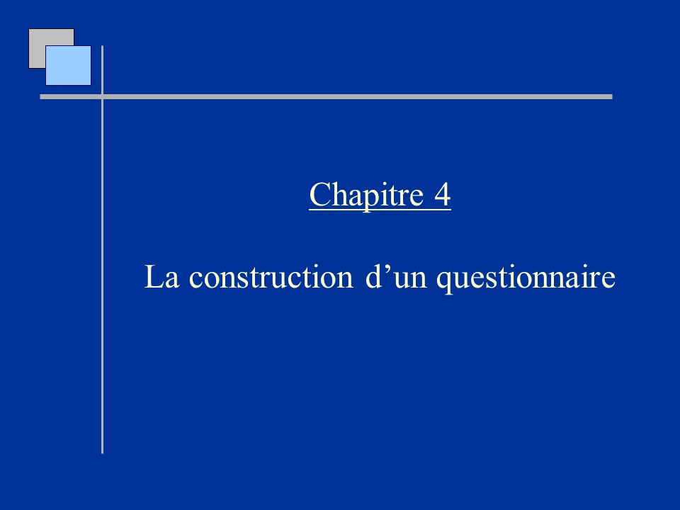 La construction d'un questionnaire