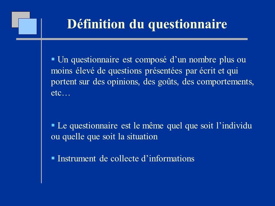 L laboration d un questionnaire d interview ppt video for Portent definition