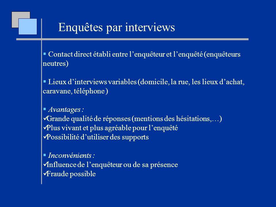Enquêtes par interviews