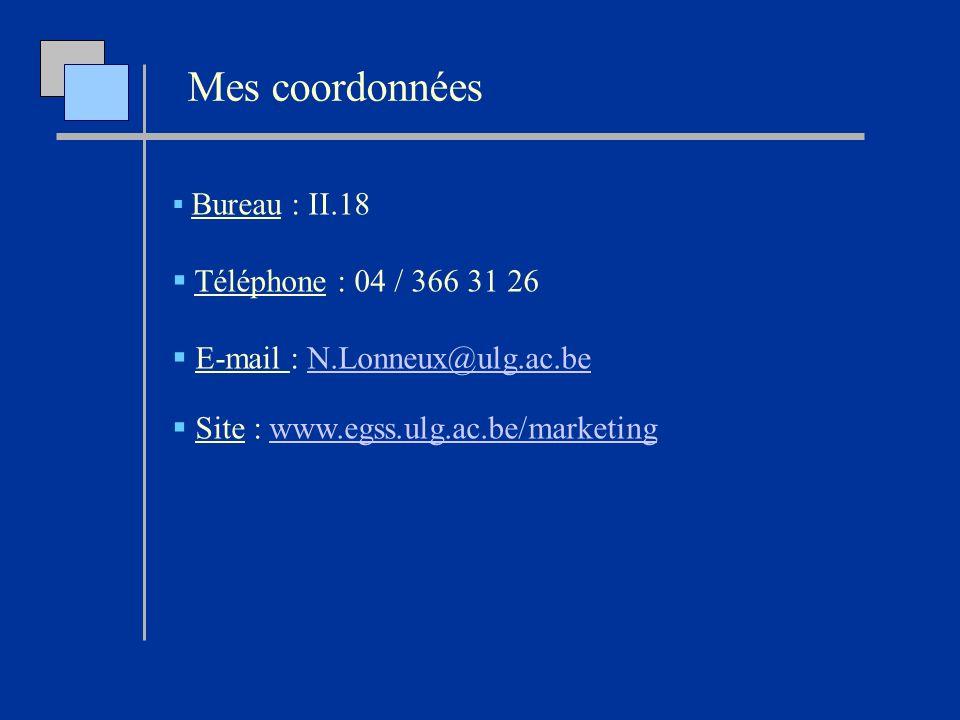 Mes coordonnées Téléphone : 04 / 366 31 26