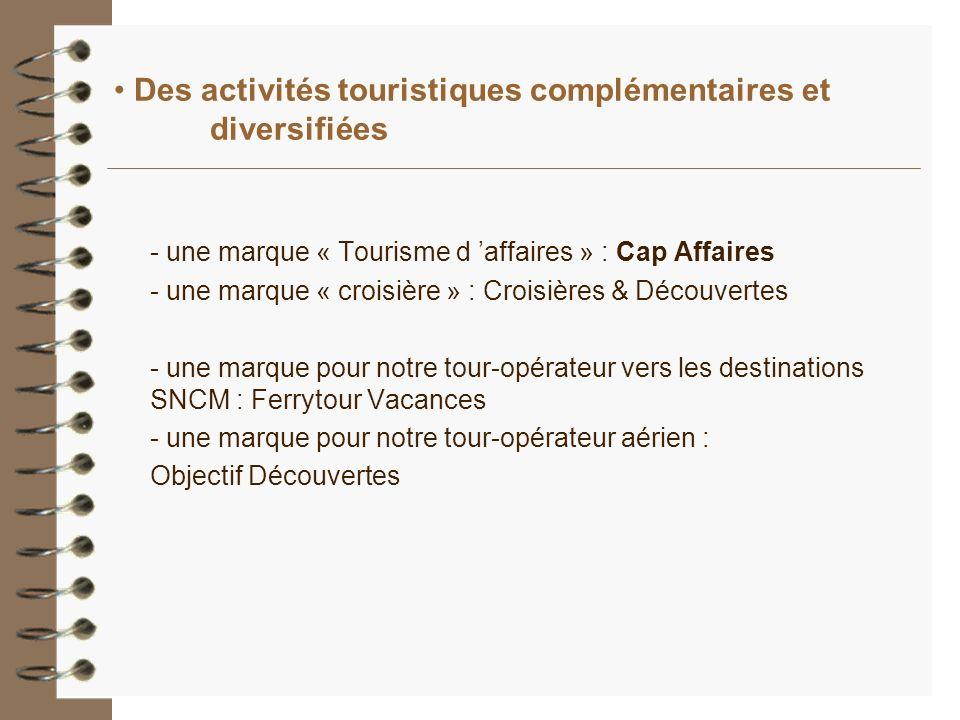 Des activités touristiques complémentaires et diversifiées