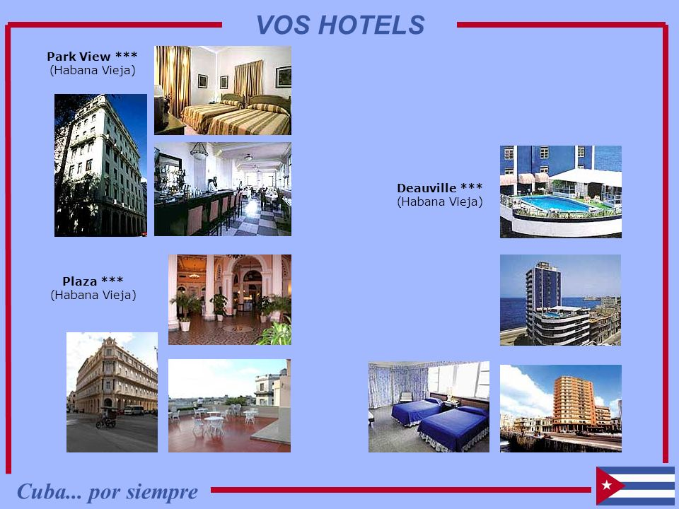 VOS HOTELS Cuba... por siempre Park View *** (Habana Vieja)