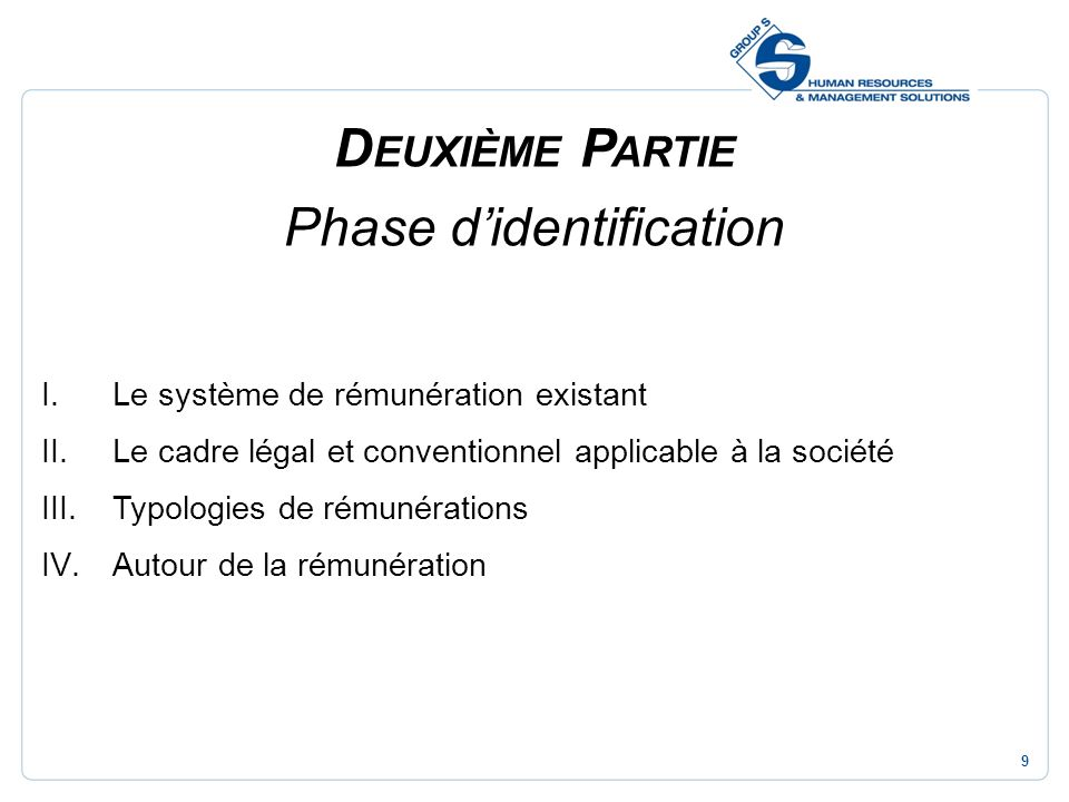 Phase d'identification
