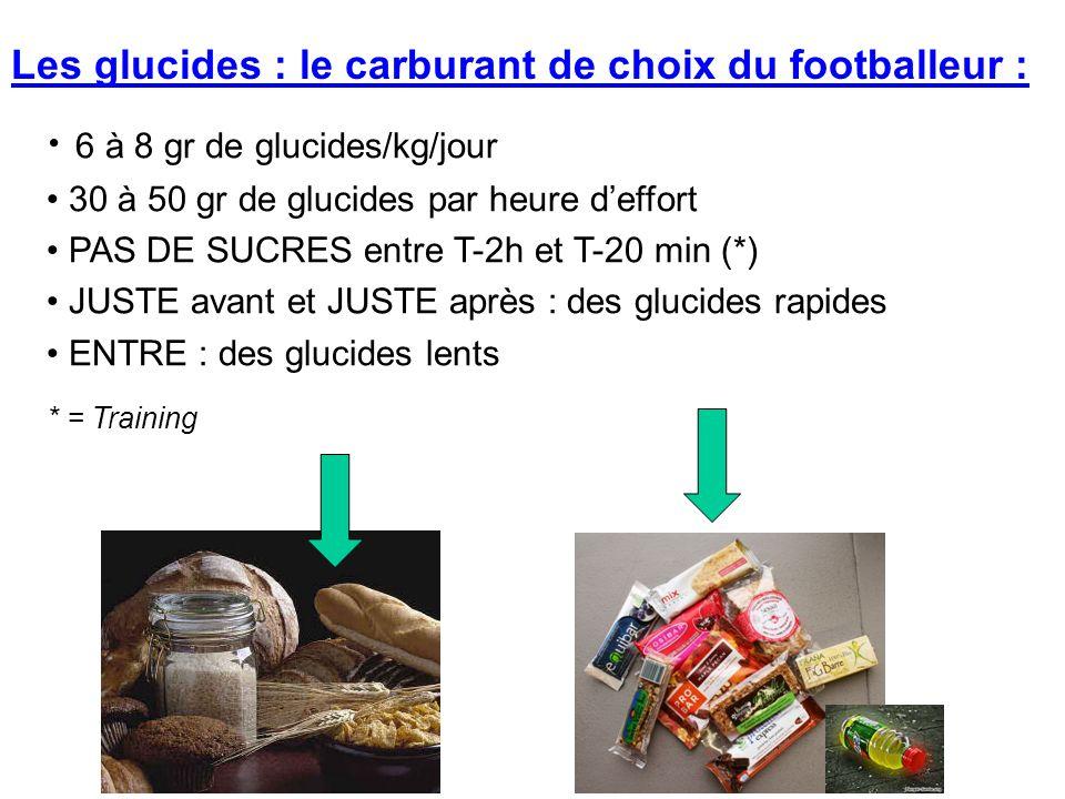 Les glucides : le carburant de choix du footballeur :