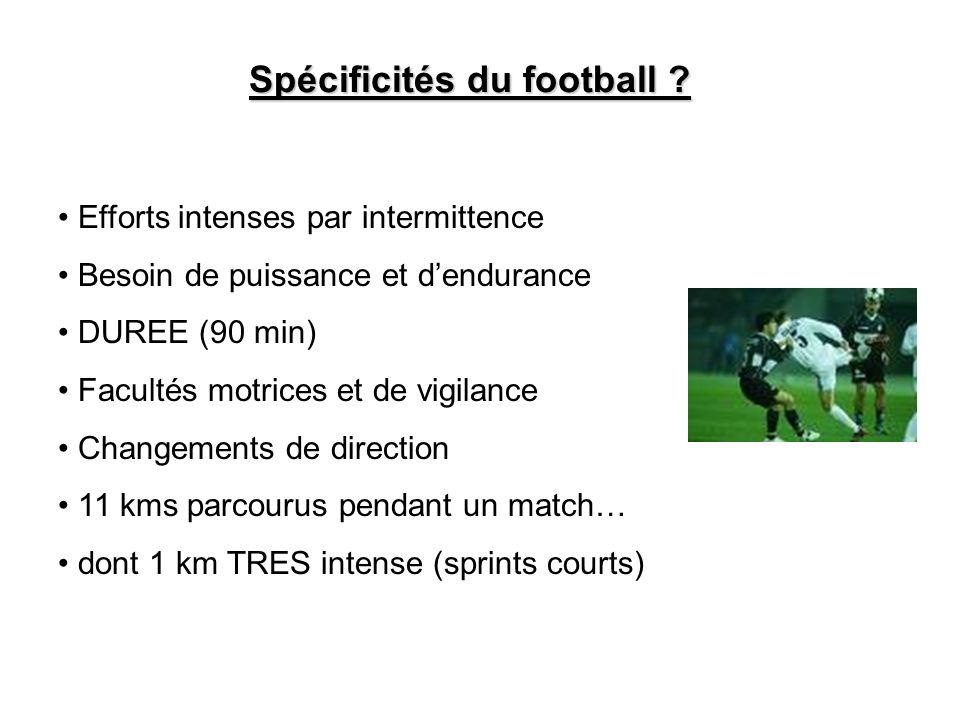 Spécificités du football