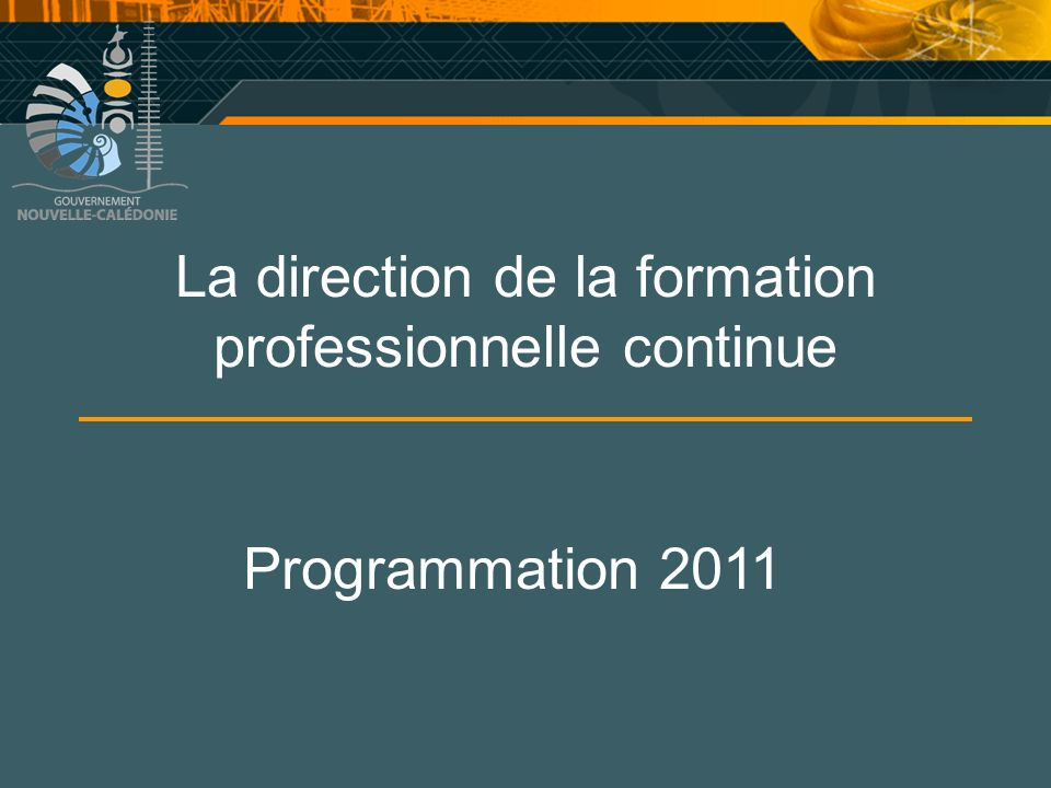 La direction de la formation professionnelle continue