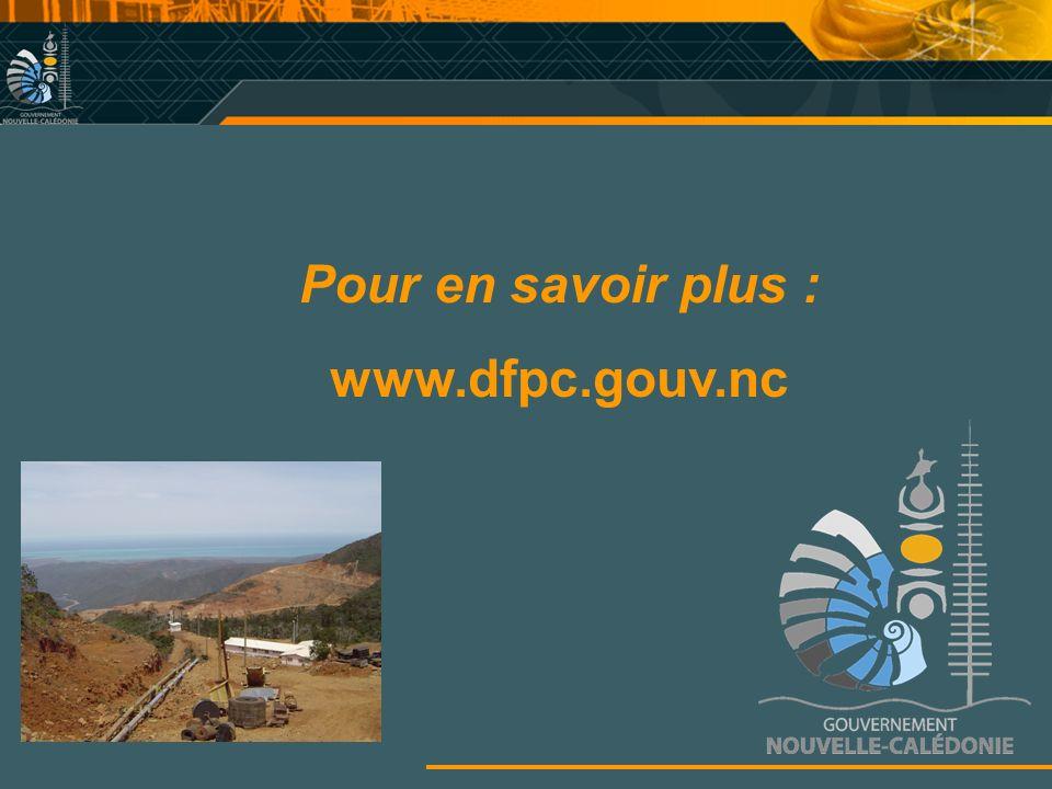 Pour en savoir plus : www.dfpc.gouv.nc