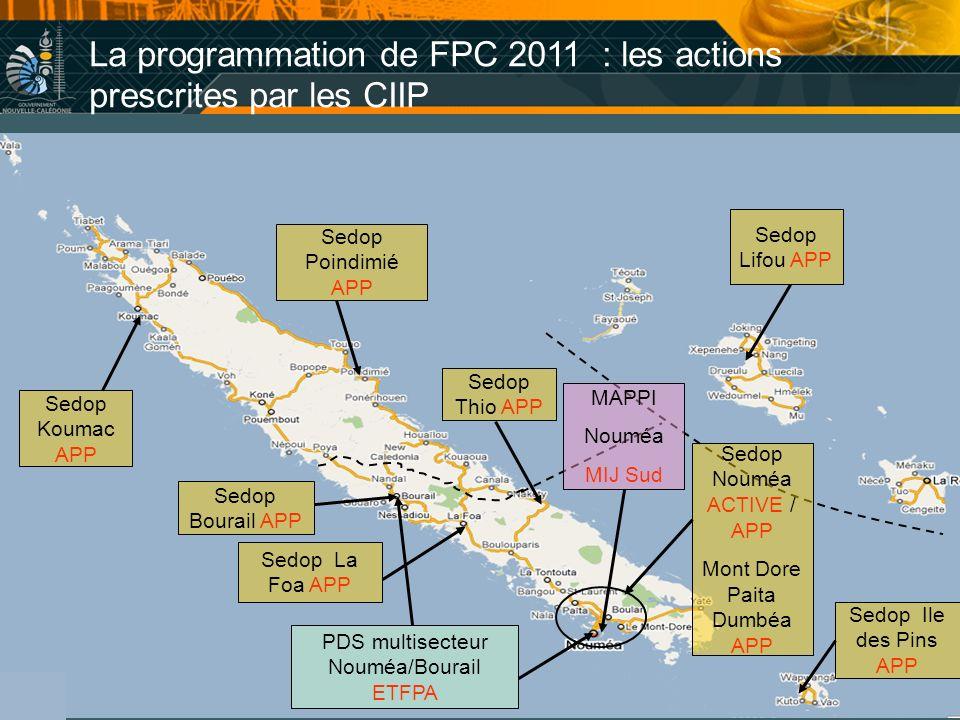 La programmation de FPC 2011 : les actions prescrites par les CIIP