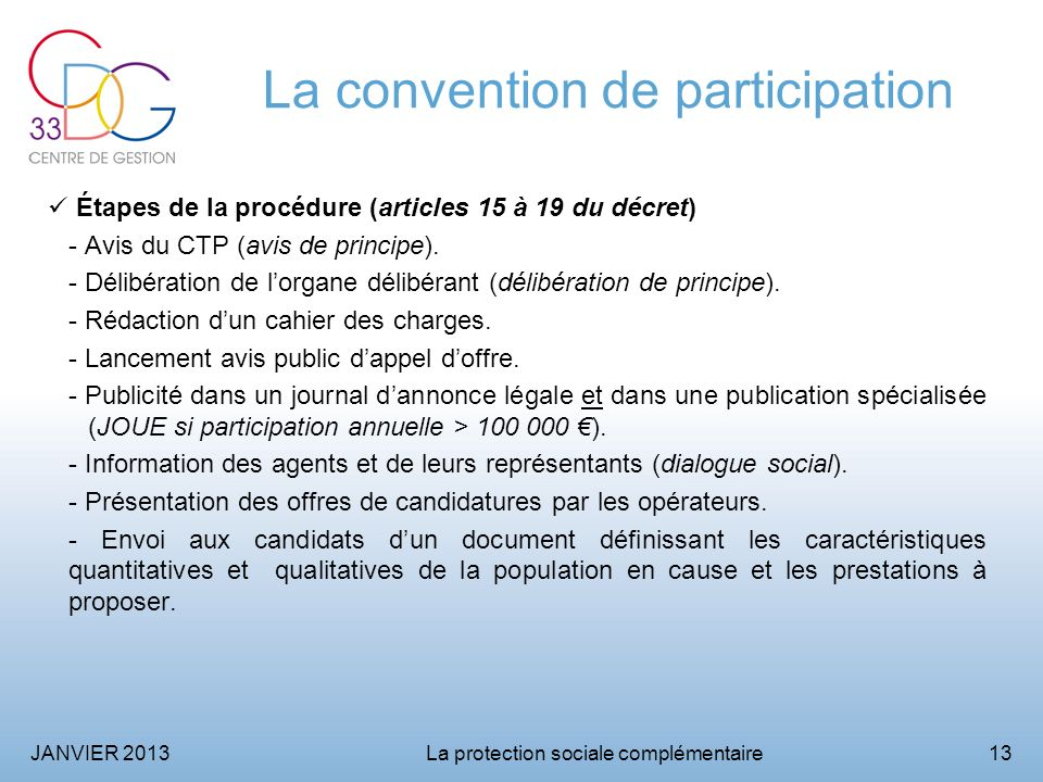 La convention de participation