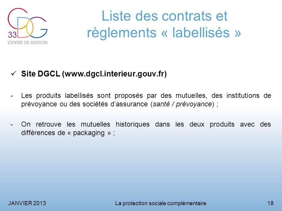 La protection sociale compl mentaire ppt video online for Dgcl interieur gouv fr