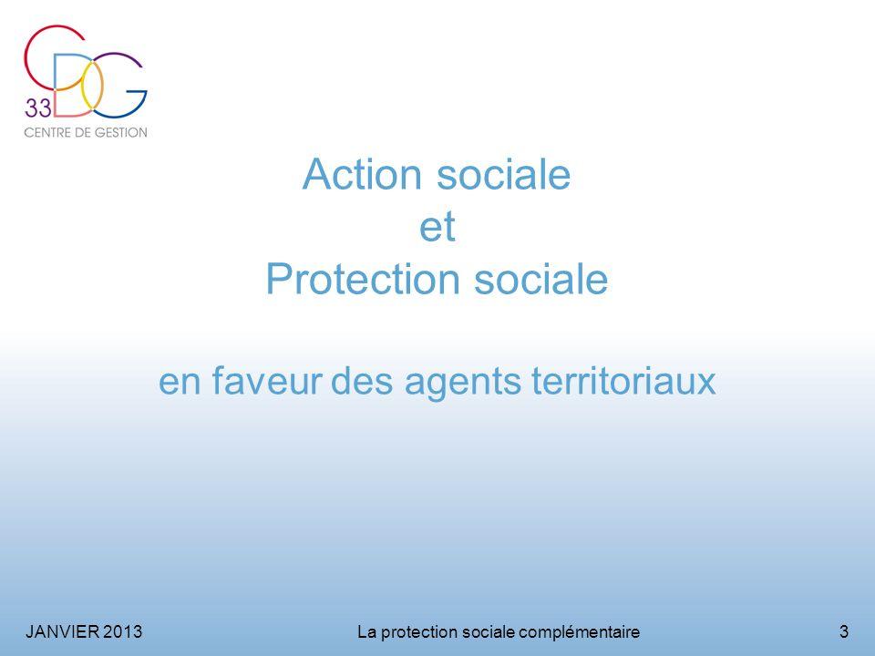 Action sociale et Protection sociale en faveur des agents territoriaux
