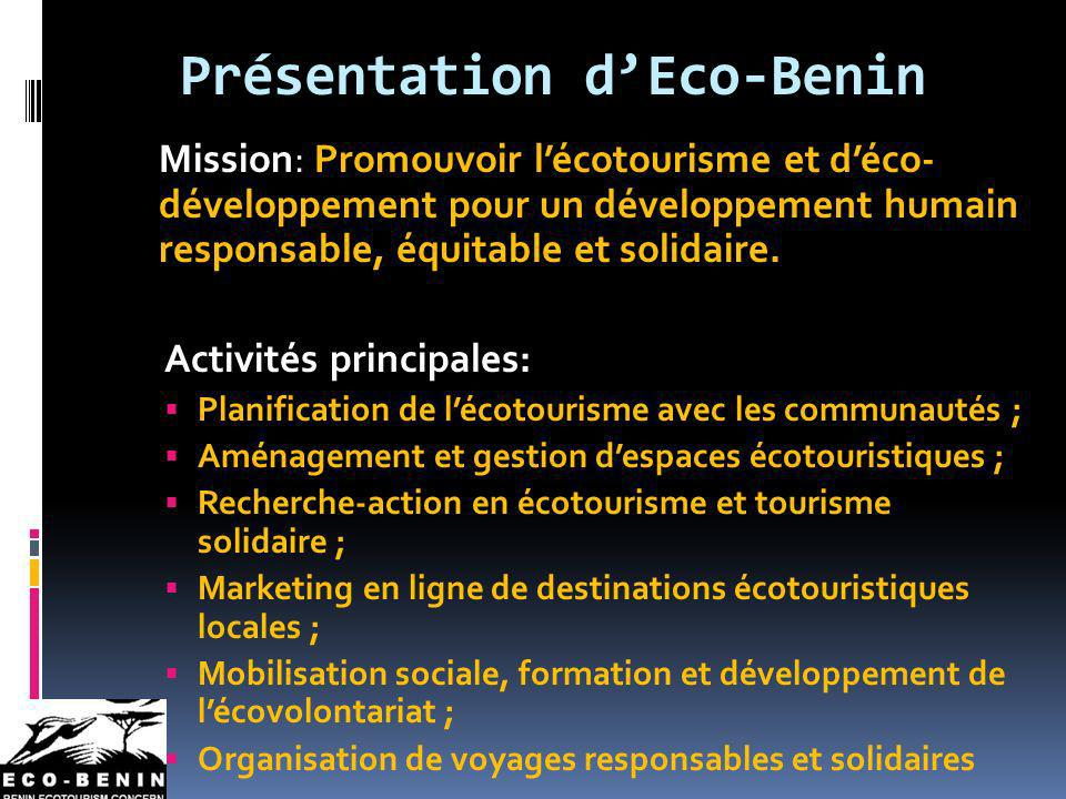 Présentation d'Eco-Benin