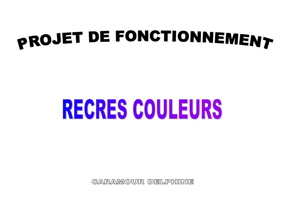 PROJET DE FONCTIONNEMENT