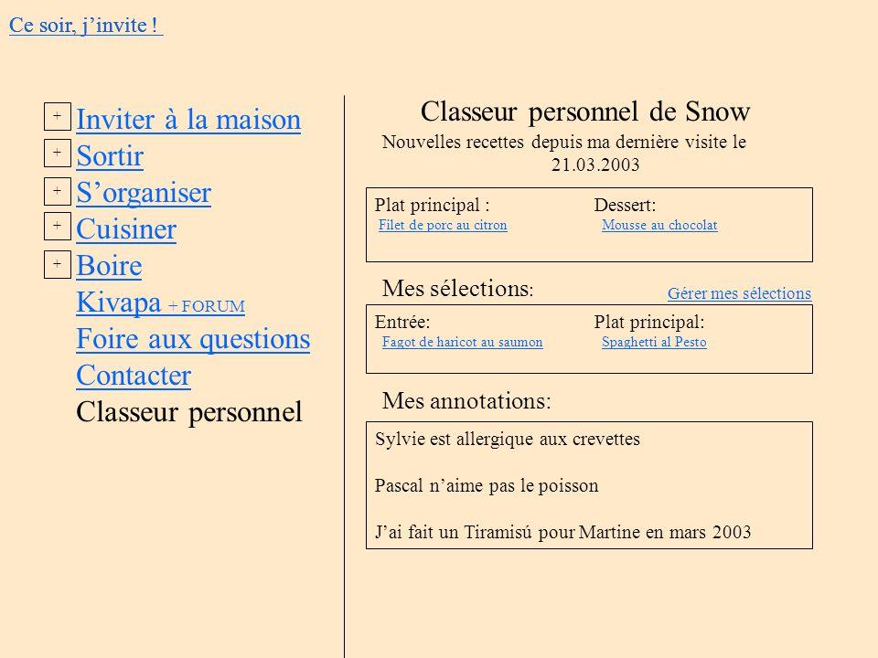 Classeur personnel de Snow