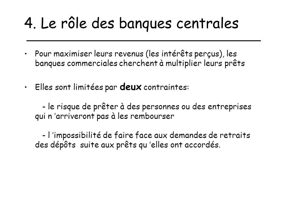 4. Le rôle des banques centrales