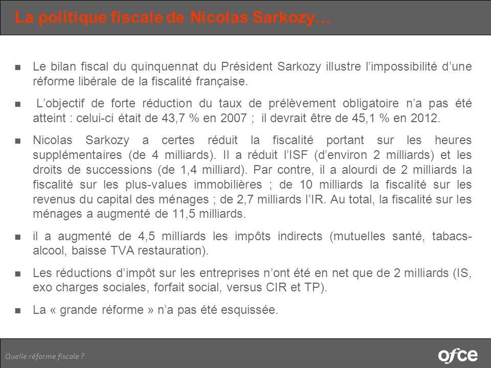 La politique fiscale de Nicolas Sarkozy…
