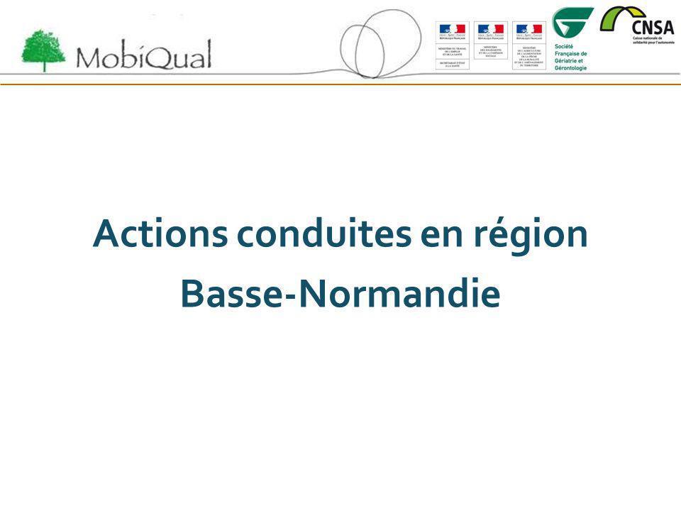 Actions conduites en région