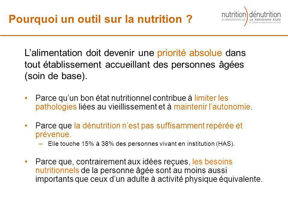 Pourquoi un outil sur la nutrition