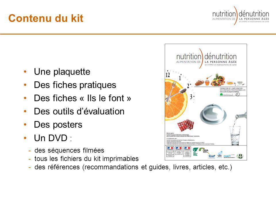 Contenu du kit Une plaquette Des fiches pratiques