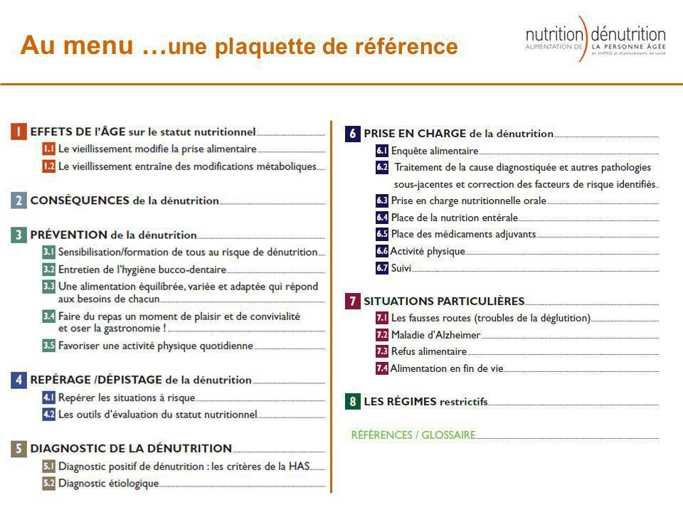Au menu …une plaquette de référence